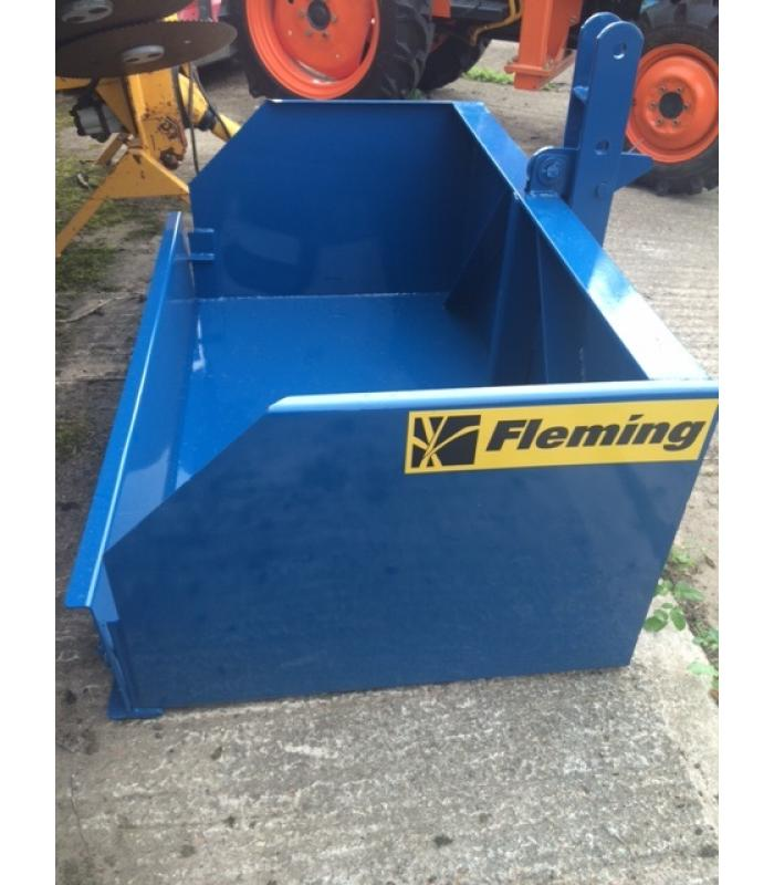 Fleming 3 pt link Tipping Transport Box 5 Foot