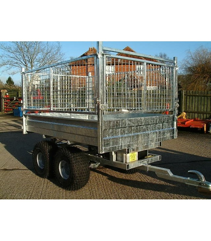 Premech Engineering Tipping Trailers, Electric Tip, Twin Axle Internal Size 1m 75cm x 1m 22cm