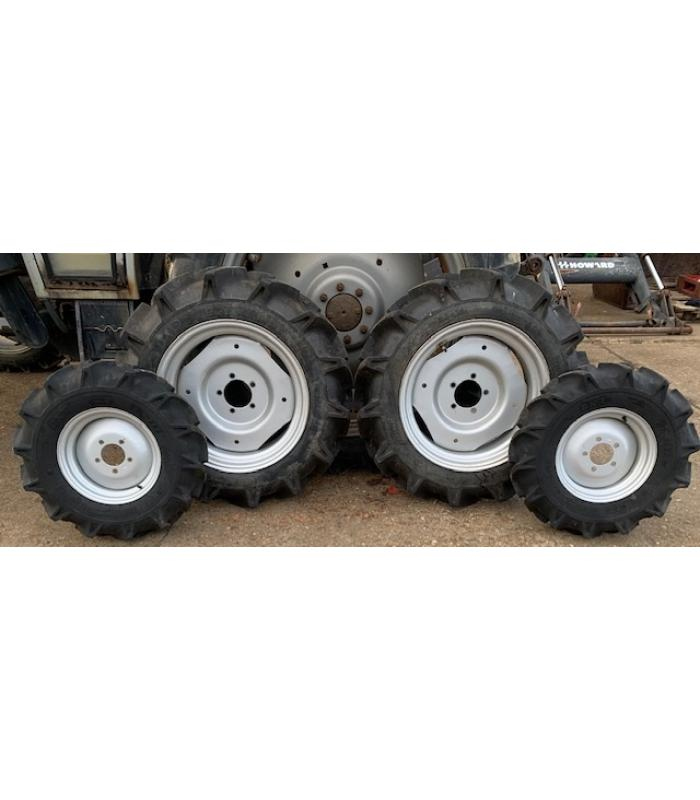 Set of Four Compact Agricultural Wheels and Tyres
