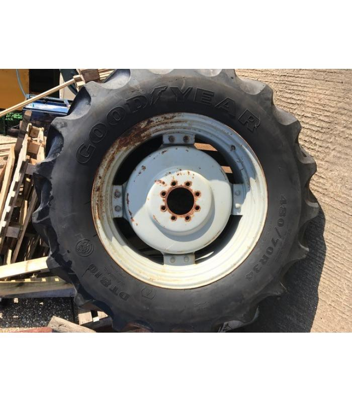 Pair Of Massey Ferguson Rear Wheels and Tyres
